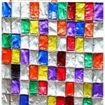 Aluminium foil stained glass painting