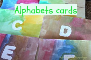 Alphabets cards for toddlers