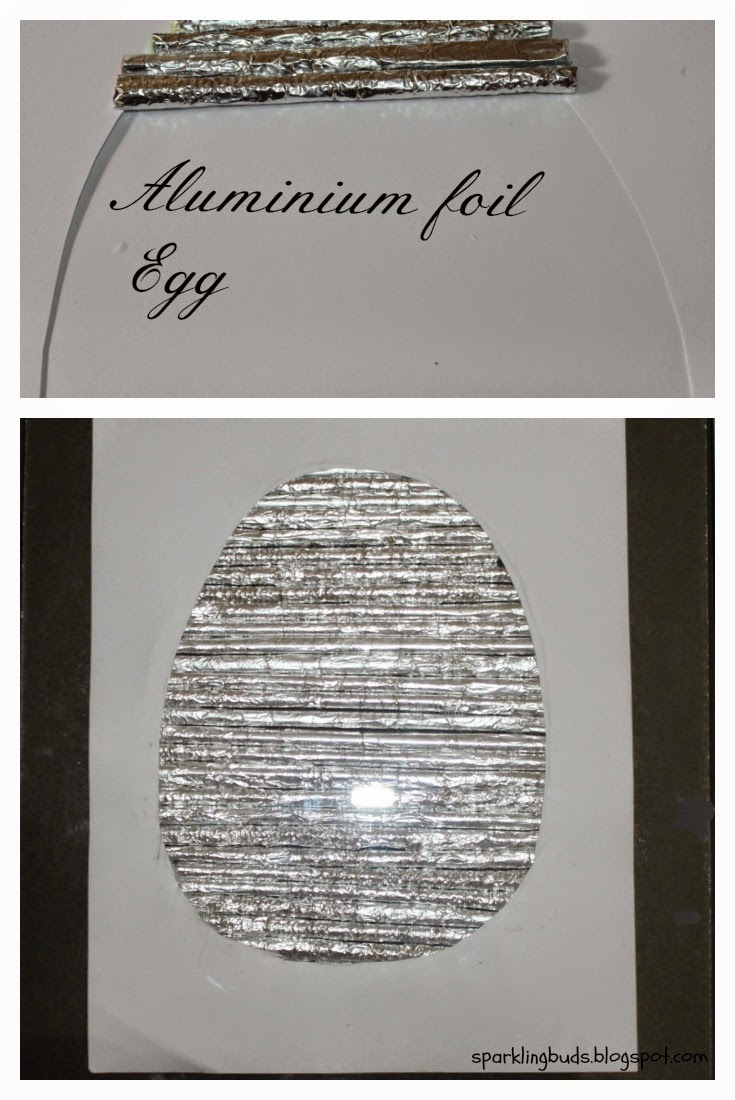 Aluminium foil easter egg wall art sparklingbuds for Aluminium decoration