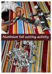 Aluminium foil activity for toddlers