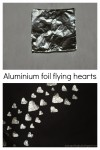 Aluminium foil flying heart