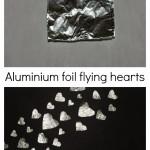 Aluminium foil hearts