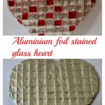 Aluminium foil heart – Valentines day gift idea