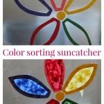 Color sorting flower suncatcher