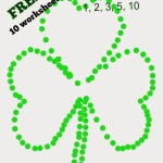 Connect the dots Shamrock free worksheets