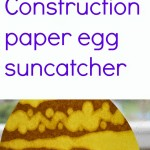 Construction paper egg suncatcher