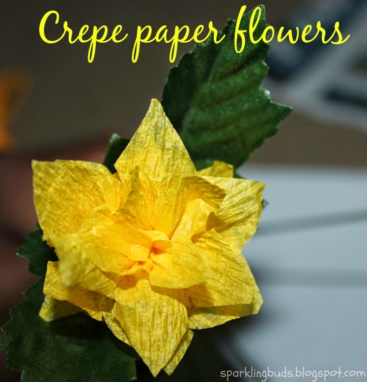 Crepe paper flower for kids