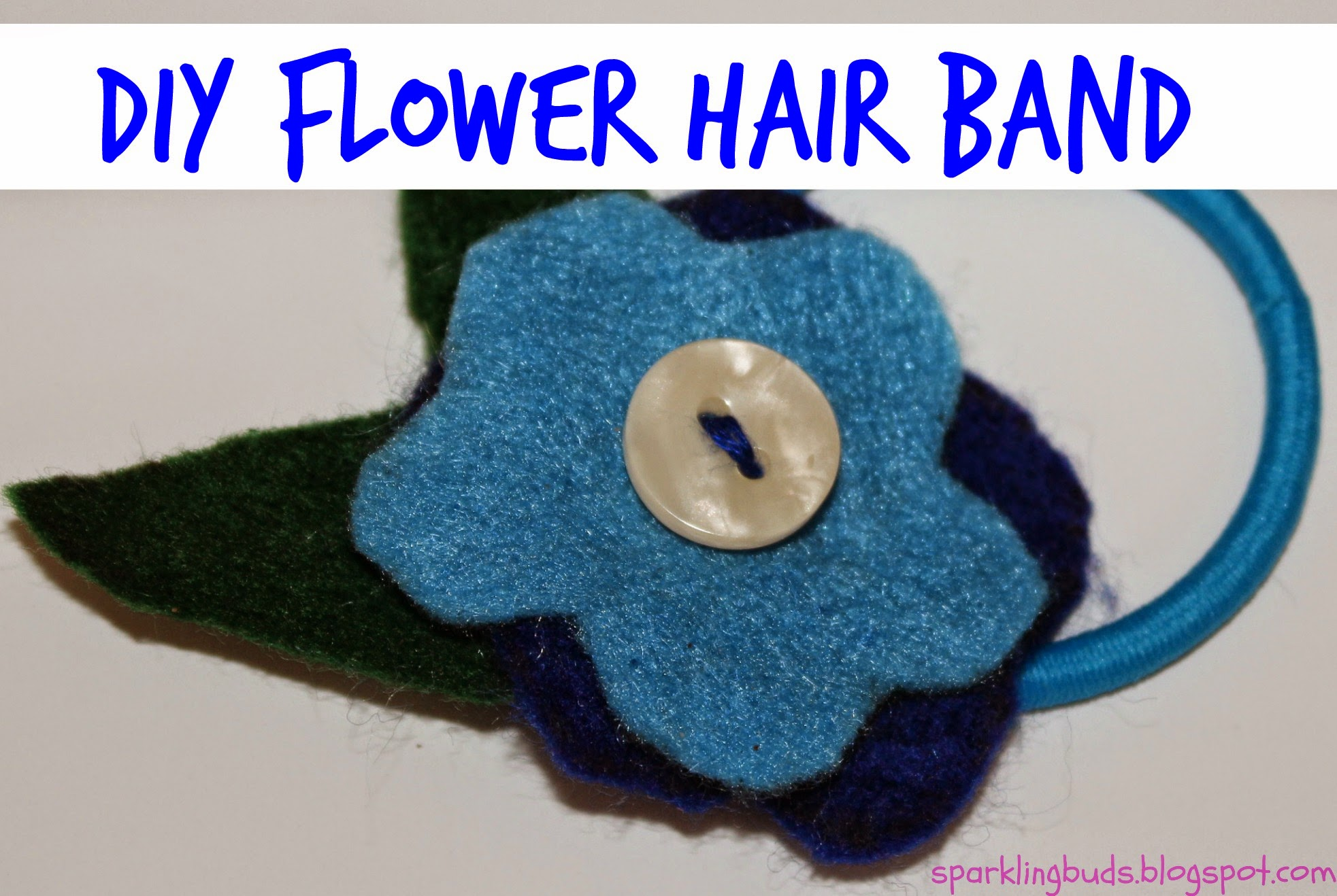 Diy Flower Hair Rubber Band Sparklingbuds