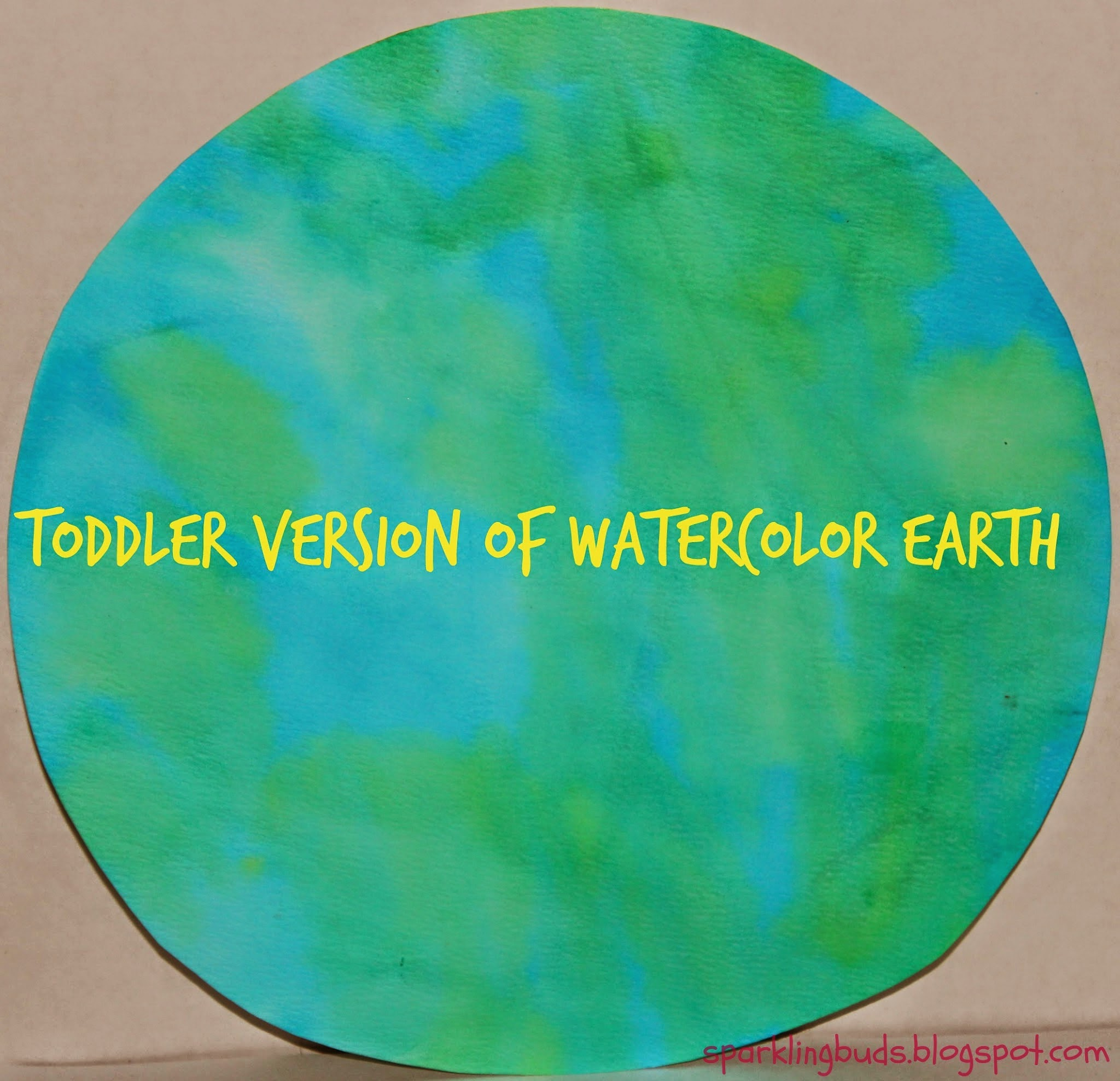 Toddler Version Of Watercolor Earth