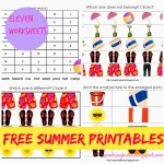 Free Summer printables