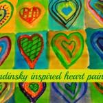 kandinsky inspired heart painting