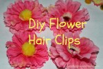 Make your own hair flower clips