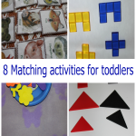 Eight matching activities for toddlers