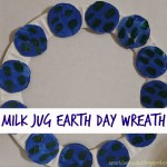 Milk jug Earth day wreath