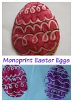 Monoprint technique for Easter decoration