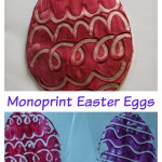 Monoprint Easter egg decoration ideas