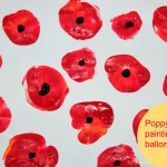 Poppy flowers  - painting with Kids