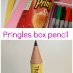 Pringles box recycled pencil