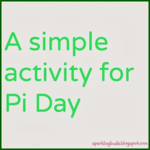 Pi Day activity for kids