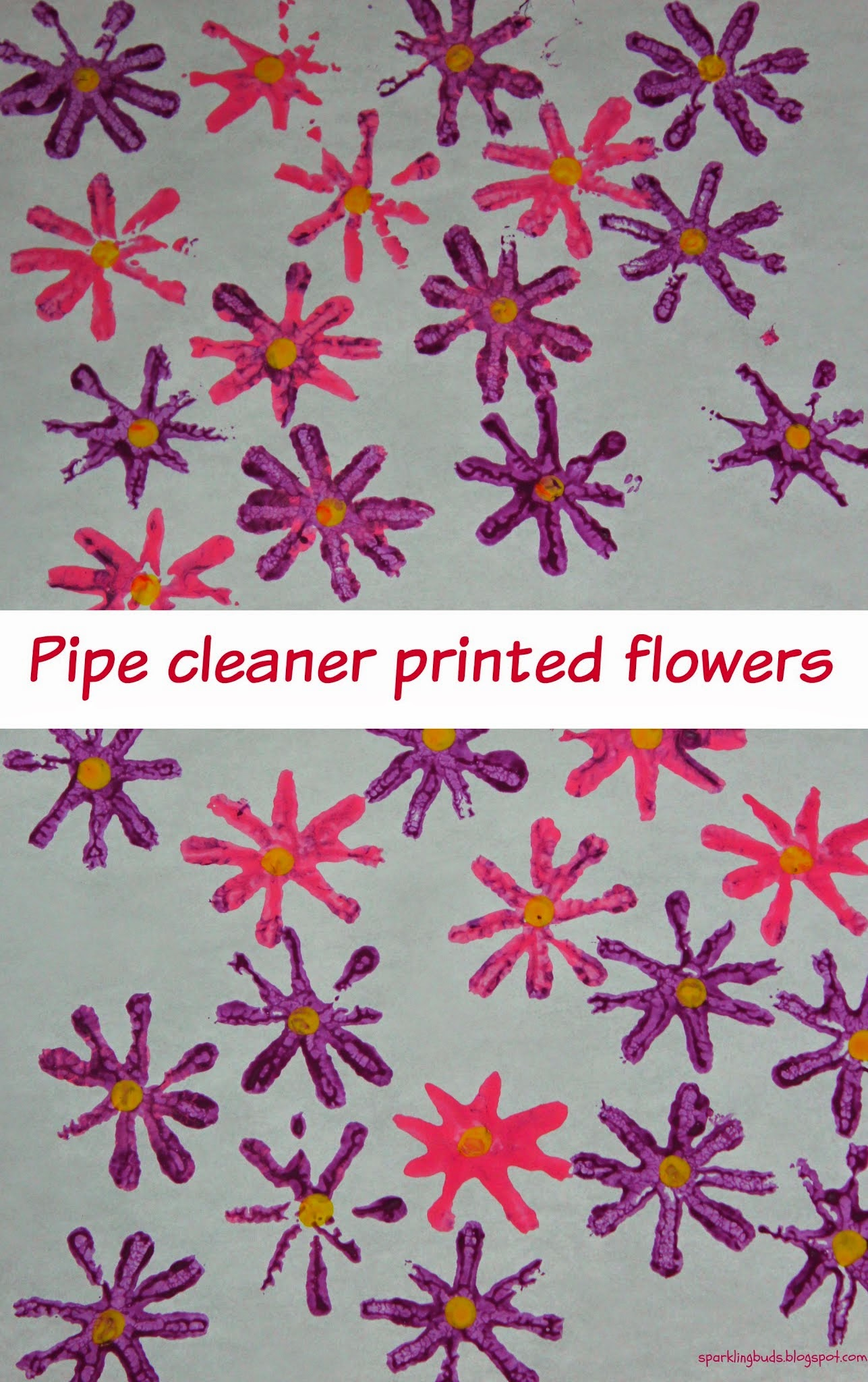 Pipe Cleaner Stamped Flowers Sparklingbuds