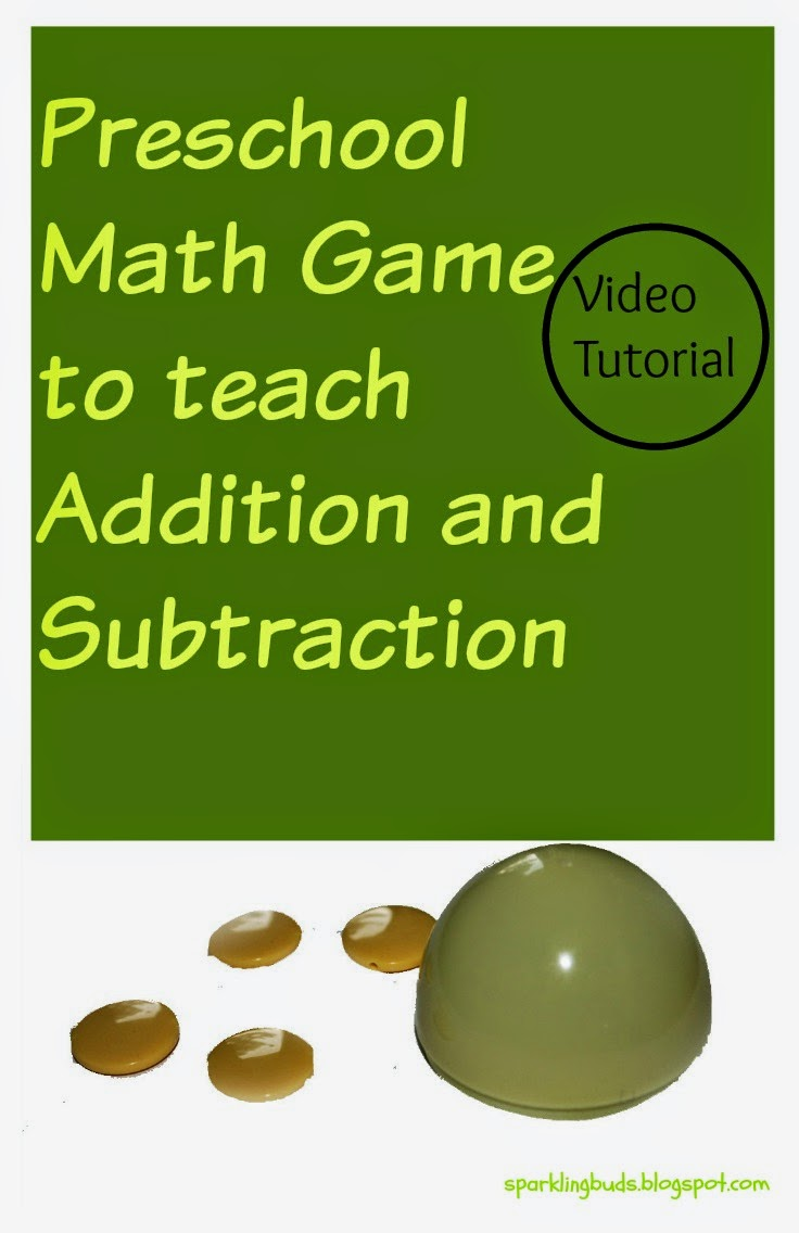 Preschool Math Game To Teach Addition And Subtraction