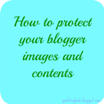 Blogger post content and image protection – Disable right click