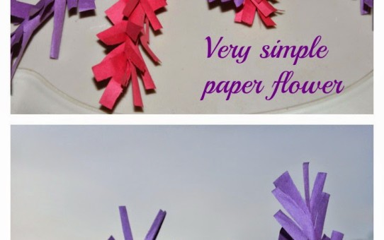 Simple paper flowers for kids
