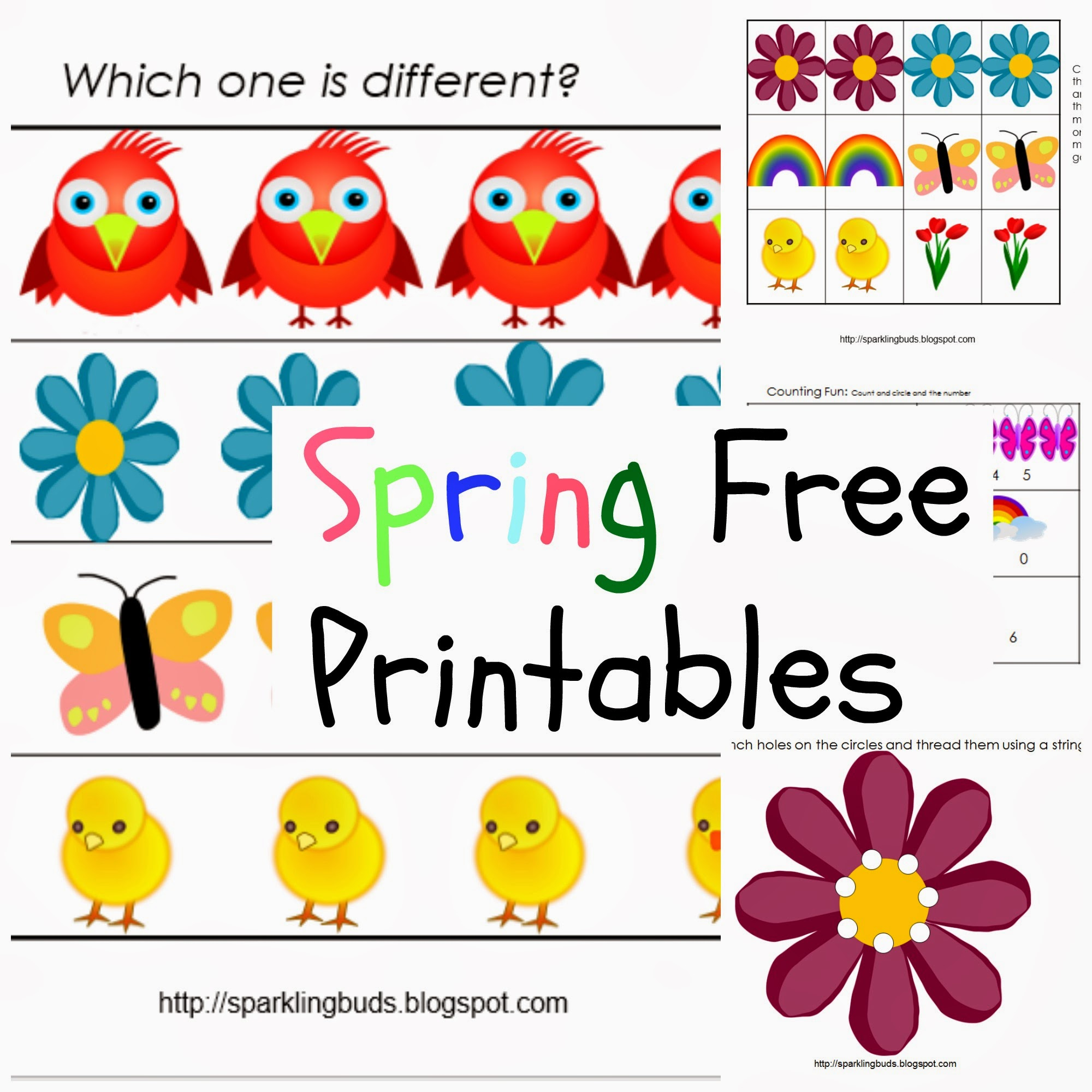 This is an image of Terrible Free Spring Printables