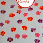 Stamped flowers painting