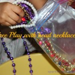 Playing with necklaces – A free play activity for toddlers