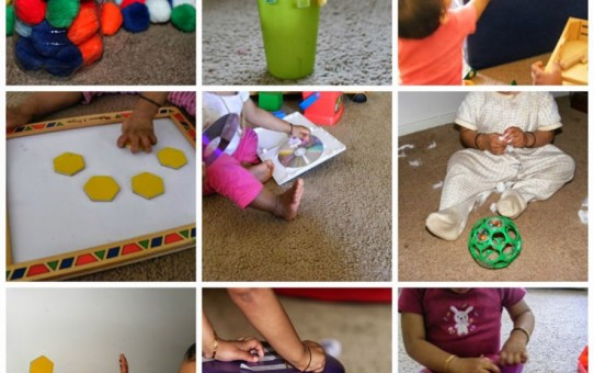 Toddler's fine motor skill activities