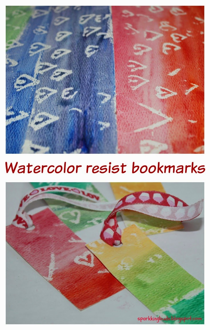 Watercolor Resist Bookmarks For Valentine S Day Classroom