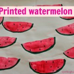 Watermelon printing