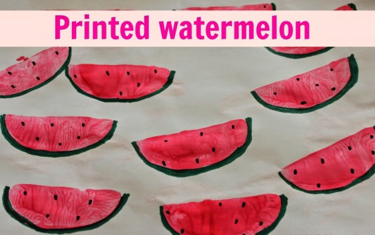 Watermelon activity painting ideas for kids