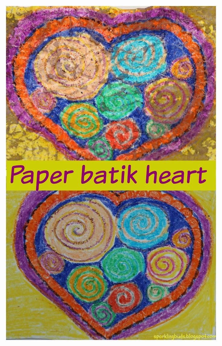 Paper Batik Heart Sparklingbuds