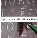 Erase the letter – Alphabet identification activity