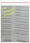 Free handwriting worksheet generator