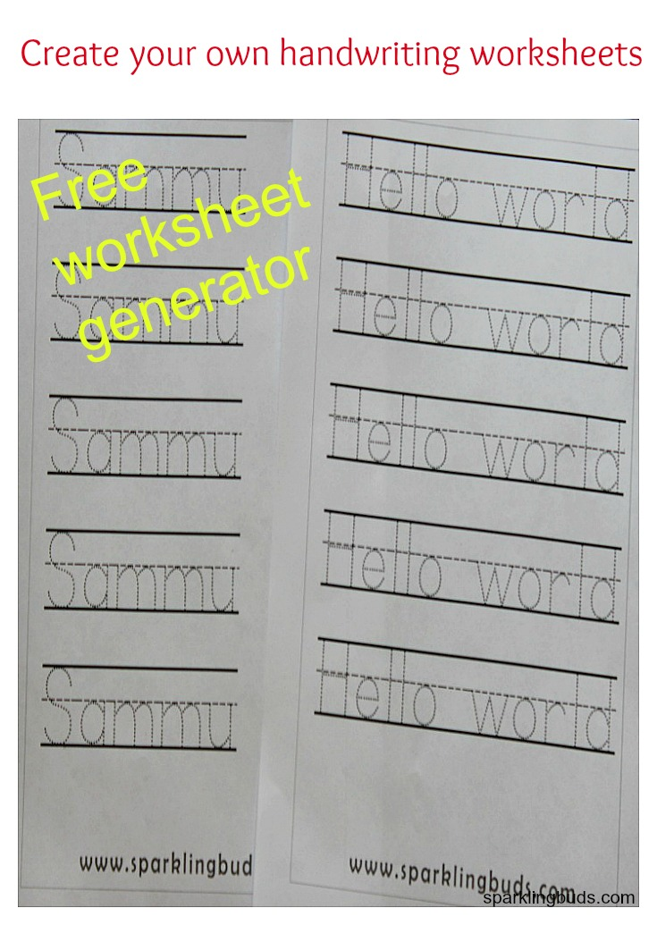 Worksheets Create Your Own Worksheets Free create your own handwriting worksheets sparklingbuds ree worksheet generator