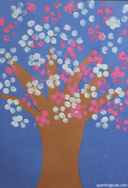Cherry blossom tree craft for preschoolers sparklingbuds for Painting ideas for children