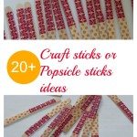 Popsicle craft sticks ideas