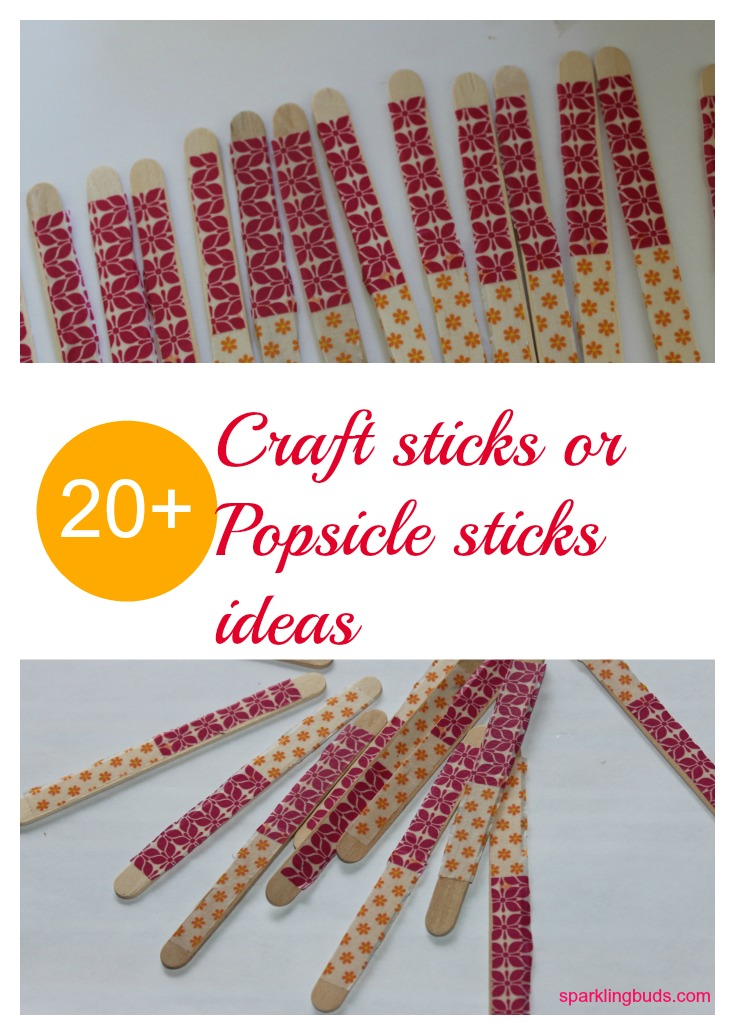 popsicle craft ideas 20 popsicle or craft sticks activity ideas sparklingbuds 2725