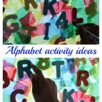Alphabet activities with suncatcher