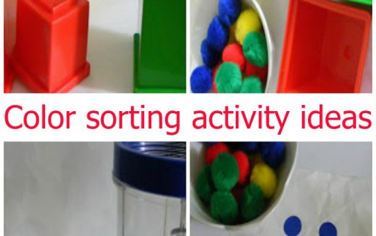 Color sorting activity ideas for toddlers