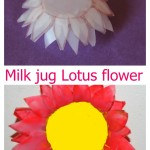 Milk jug lotus flower craft