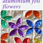 Kitchen roll aluminium foil flowers