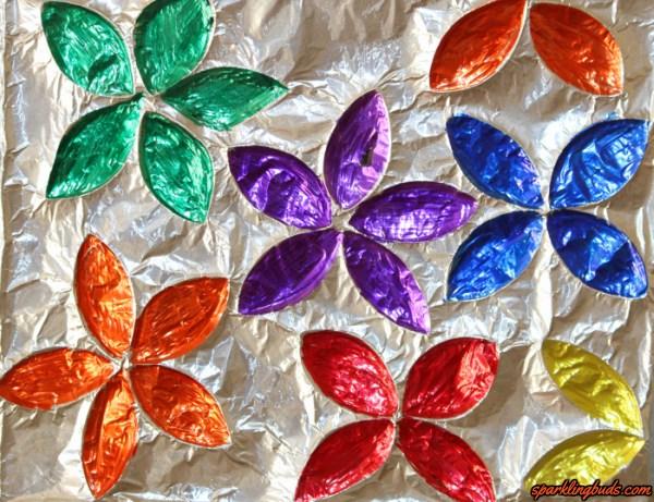 Kitchen Roll Aluminium Foil Flowers Sparklingbuds