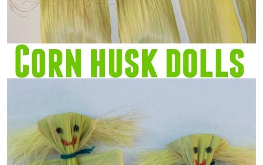 Corn husk dolls for kids
