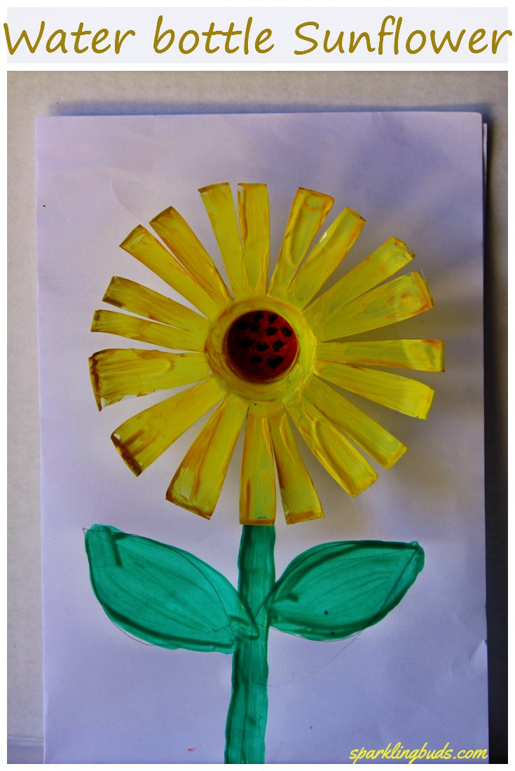 Water Bottle Sunflower Craft Sparklingbuds