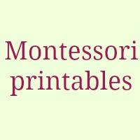 Montessori related free printables