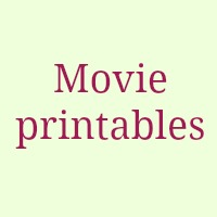 Movies related free printables